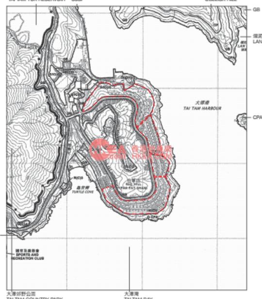 赤柱 紅山半島B區規劃圖